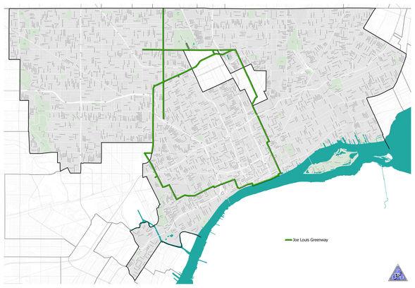 City Of Detroit Zip Code Map.Joe Louis Greenway Detroit Greenways Coalition