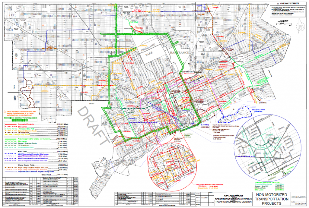 Detroit Project Map | Detroit Greenways Coalition on